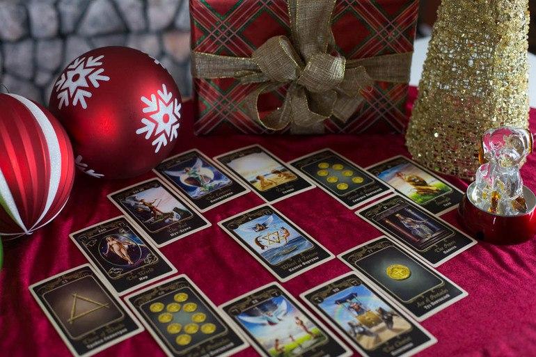 Таро открытки новогодние, ночи