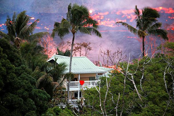 гавайские острова извржение вулкана