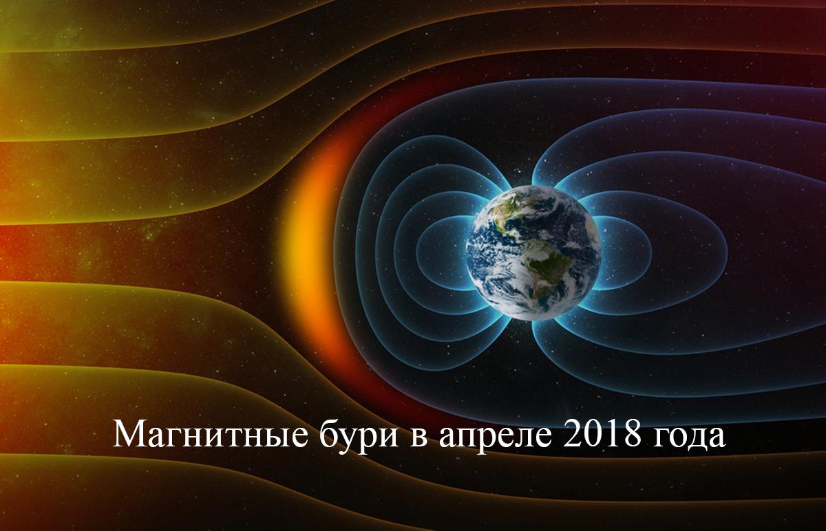 Сильные магнитные бури в апреле 2018 года!