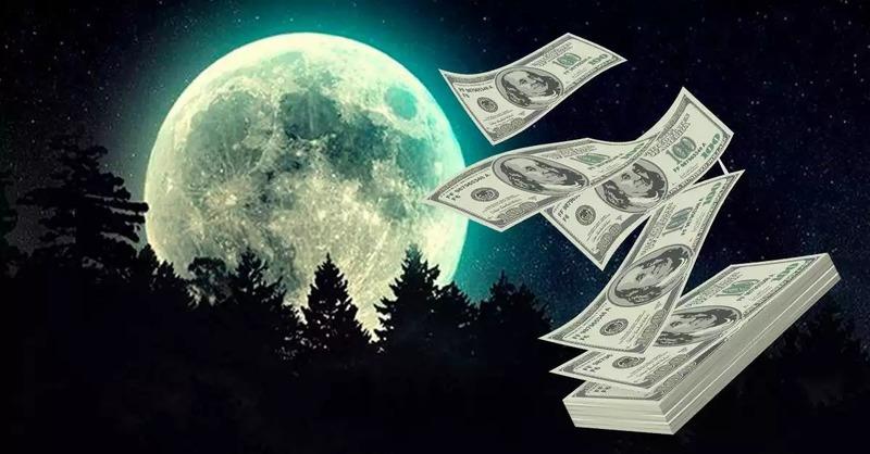 Заговор на деньги на растущей Луне