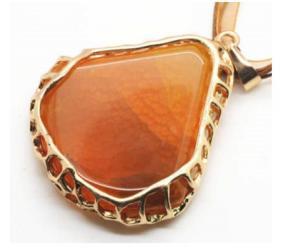 Ожерелье из Агата в позолоченной оправе